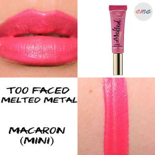 BN Too Faced Mini Melted Metal Liquid Longwear Lipstick - Macaron Toofaced