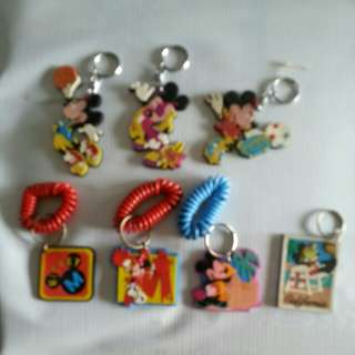 Mickey mouse key chain collection