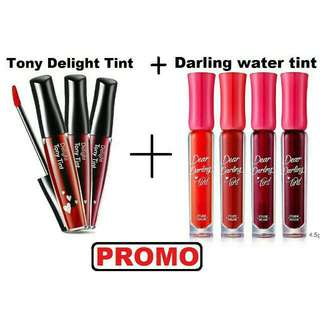 Tony Moly Delight Tint + Dear Darling Water Gel Tint