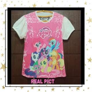 Shirt For Lovely Kids Little Pony 14 - Pink White #MakinTebel