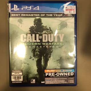 PS4 Preowned Call Of Duty Modern Warfare ( Chinese )