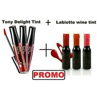 PROMO!!! Tony Delight Tint + Labiotte Wine Tint