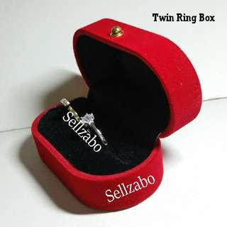 Small Solemnization Rom Wedding Rings Exchange Box Red Sellzabo Accessories Kahwin Kawin