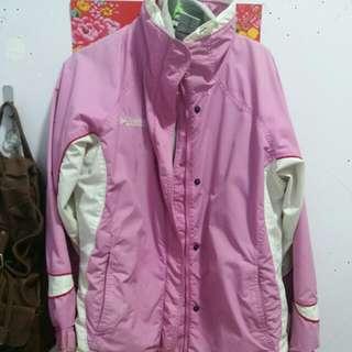 Columbia 夾棉 外套 連同粉紅色 大褸 一套