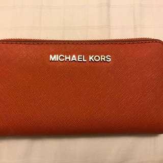 Orange Michael Kors Wallet