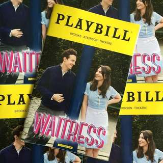 WAITRESS Playbill with Sara Bareilles and Jason Mraz