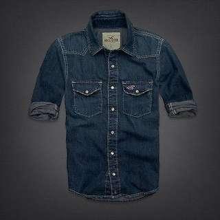 BNEW Authentic Hollister Avalon Place Denim Shirt L