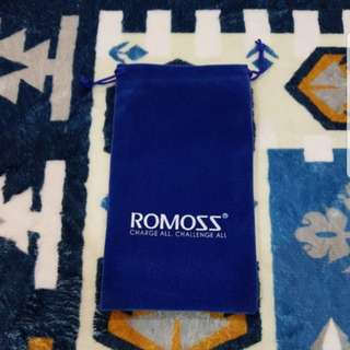 New Stylish Velvet Pouch for Romoss Powerbank or any Mobile Phone