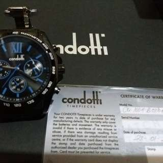Jual jam tangan condotti rantai original new ya #dpt gift kantor