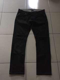 Authentic FCUK black denim jeans for men 34 $128 srp