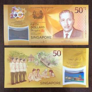 CIA 50 Singapore Commemorative Note