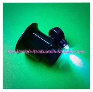 20x Single Lens Jewelry & Watch Maker Eye Loupe Magnifier Tool w Led Light