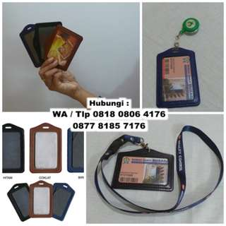 Id card holder semi kulit - Tempat Id Card Kulit