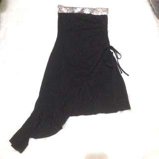 Black Sequins Tube Dress