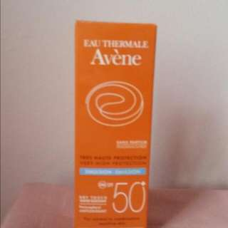 Avene SPF 50 emulsion for sensitive skin