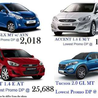 Hyundai Lowest Downpayment