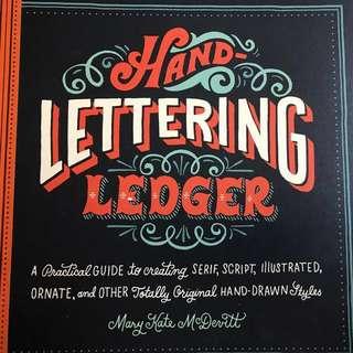 Handlettering ledger book