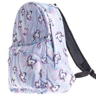 Unicorn Emoji School Bag Pack; shoulder backpack  ; women's ladies girls kids children child student; back pack