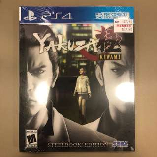 PS4 Yakuza Kiwami ( Steel Book Edition )