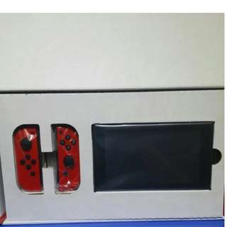 Nintendo switch red with Game of your choice