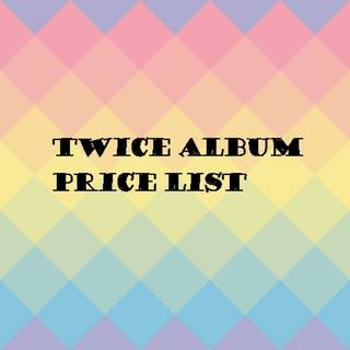 Twice album price list
