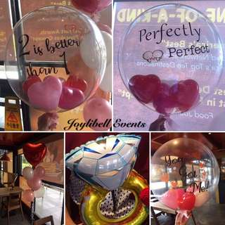 Helium balloons for proposal