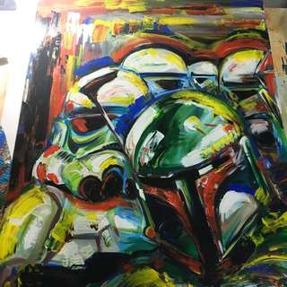 Storm Troopers Painting