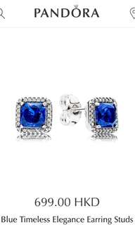 Pandora Blue Timeless Elegance Earring Studs