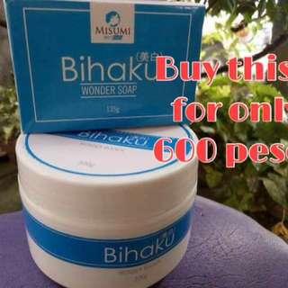 Bihaku bleach and soap sale