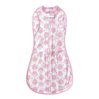 Woombie Convertible One-Step Swaddle (Pink Owls)