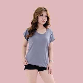 HTP Basic Short Sleeves Ribbed Grey