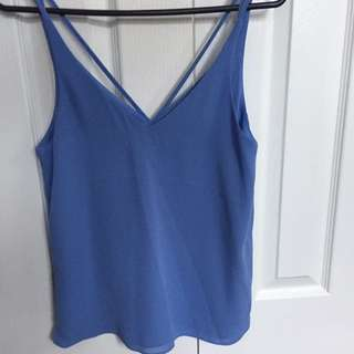 Topshop purple singlet