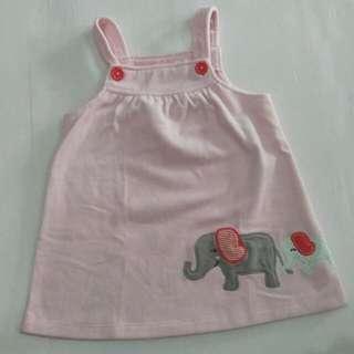 Carter's Elephants Pink Dress