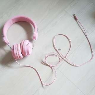 Miniso pink headphones