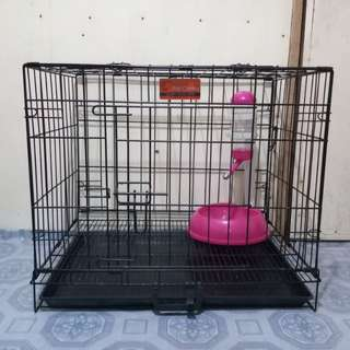 Dog Cage with Automatic Drinker