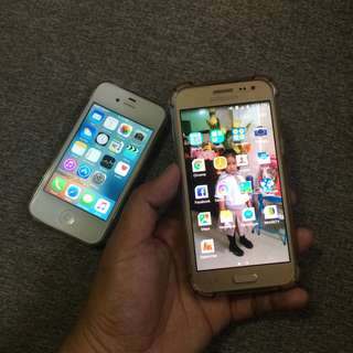 Iphone 4s and Samsung j5