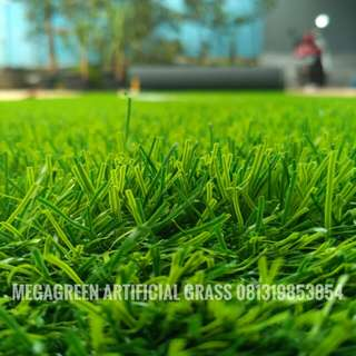 Rumput Sintetis Rumput Hijau Pasang Area Halaman Rumah