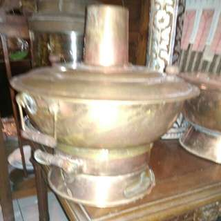 Steamboat tembaga antik A