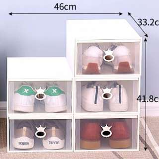 Easy Self Assemble Stackable Shoe Sorting Box Drawer