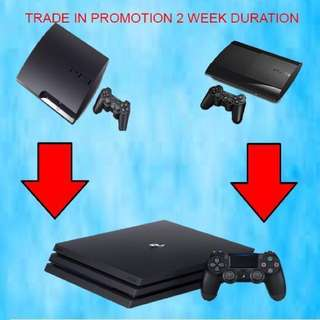 PS4 pro for as Low as  $450 if u trade in PS3