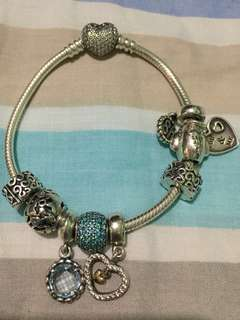 Pandora Heart Clasp Bracelet (charms not included)