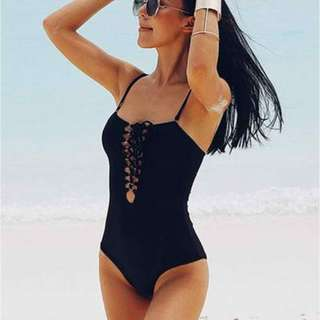 Leona Sexy Shoe Lace One  Piece Swimsuit