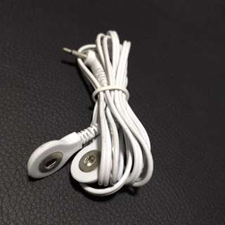2018 New Electrode Lead Wires Connecting Cables for Digital TENS Therapy Machine Massager Electrode Wire Plug 2.5mm 2Buttons