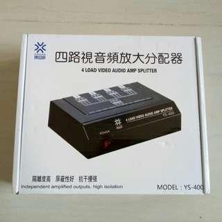 4 load video Audio amp splitter