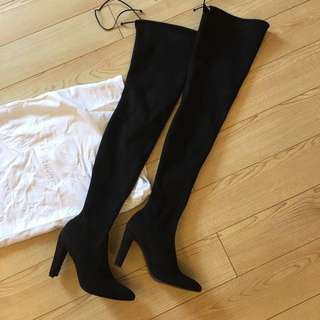 Stuart Weitzman: Alllegs Over-the-knee Boot in Noir size 40 偏小