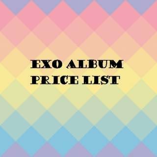 EXO album price list