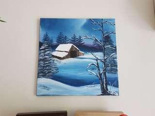 "Painting ""the winter night"""