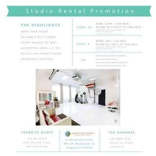 Promo-Spacious Photo Studio for rent