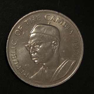 1971年Gambia 50 布圖硬幣