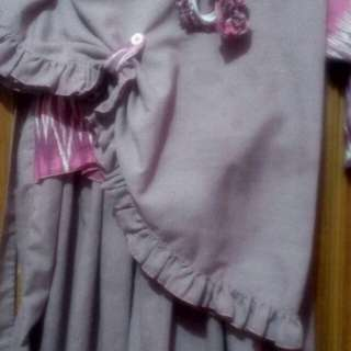 gamis anak 1 set dg jilbab